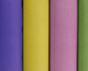 Row of colourful book spines.