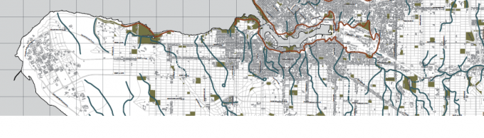 Map of Vancouver's Old Streams