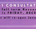 Holiday Hours, Consultations